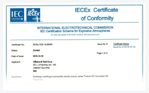 Certification IECEx
