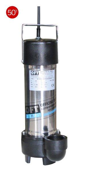 Elettropompe per drenaggio di liquidi contaminati max 50 °C