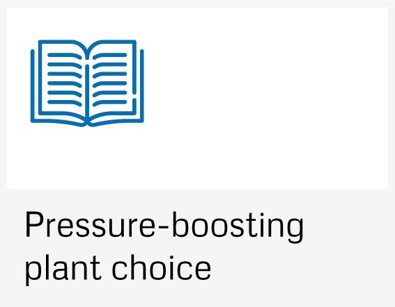 Pressure-boosting plant choice